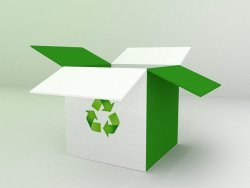 Papierowy karton- recykling