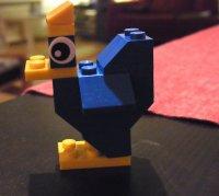 Ptak zbudowany z klocków